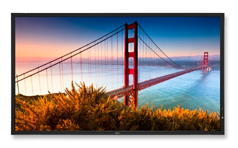 NEC X462S and X552S Super-slim Commercial Displays front