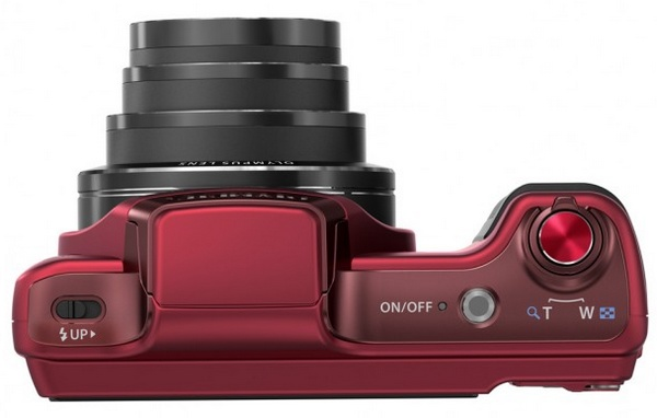 Olympus STYLUS SZ-15 Long-zoom Camera red top