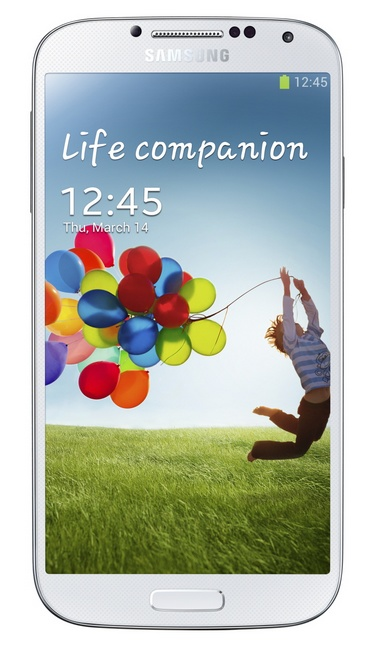 Samsung Galaxy S4 8-core Android smartphone white front