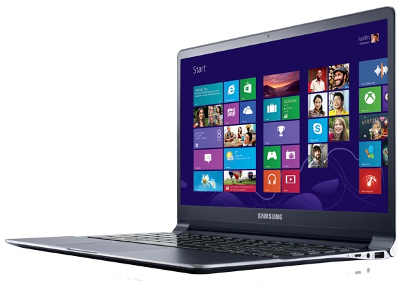 Samsung Series 9 Premium Ultrabook with Full HD Display angle