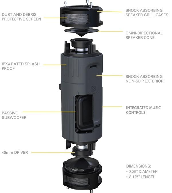 Scosche boomBOTTLE Weatherproof Wireless Speaker details