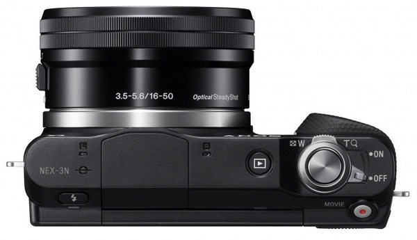 Sony Alpha NEX-3N Mirrorless Camera top