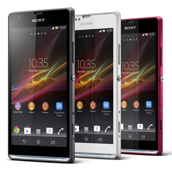 Sony Xperia SP Mid-range Smartphone colors