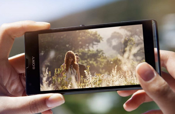 Sony Xperia SP Mid-range Smartphone with Premium Design on hand