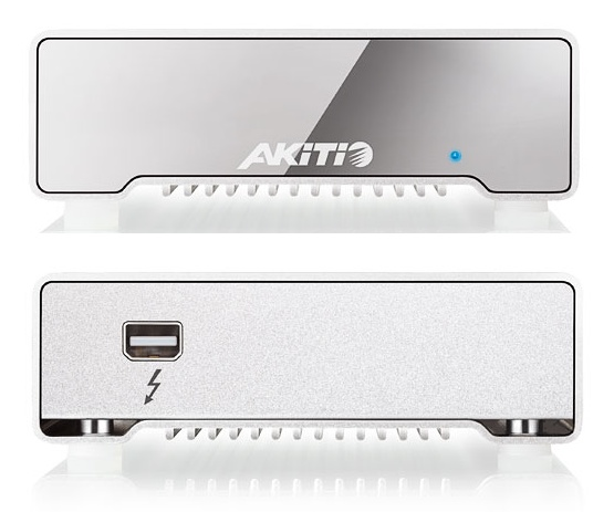 Akitio 256 GB Neutrino Thunderbolt External SSD front back