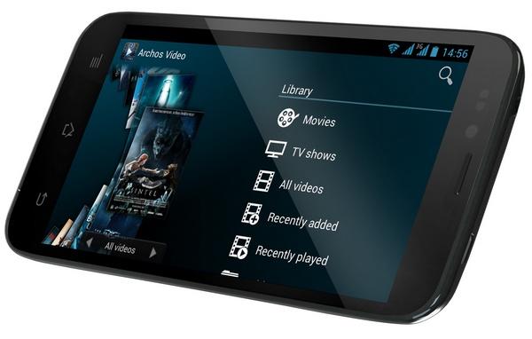 Archos 50 Platinum Android smartphone landscape