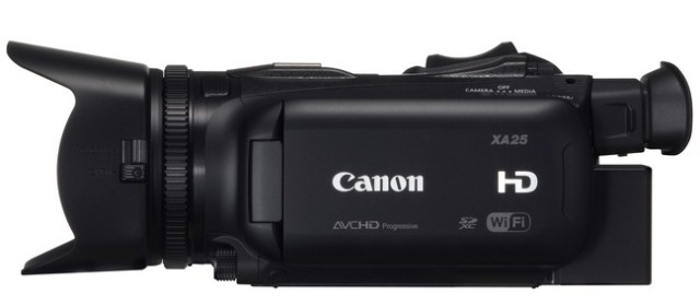 Canon XA25 and XA20 Ultra-Compact Professional Camcorders side