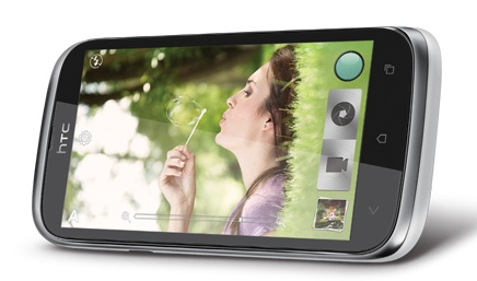 HTC Desire V Entry-level Dual-SIM Smartphone landscape