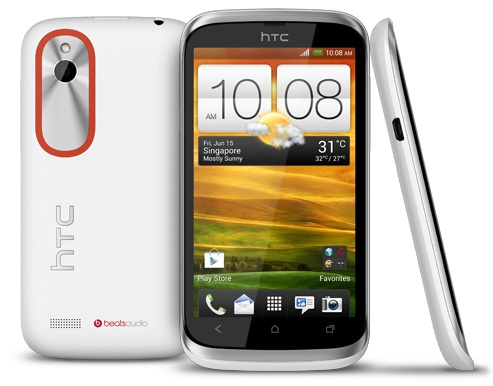 HTC Desire V Entry-level Dual-SIM Smartphone white