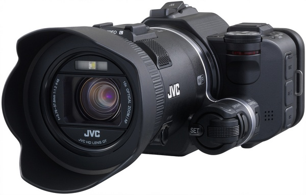 JVC Procison GC-PX100 Camcorder captures Fast-moving Actions no viewfinder