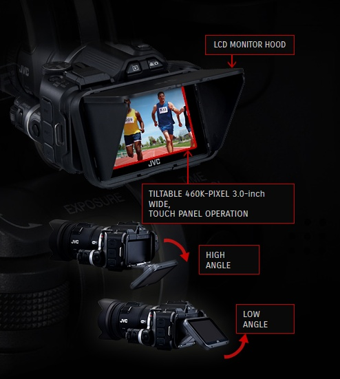 JVC Procison GC-PX100 Camcorder captures Fast-moving Actions