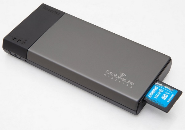 Kingston MobileLite Wireless Reader and Portable Charger for Mobile Devices sdhc