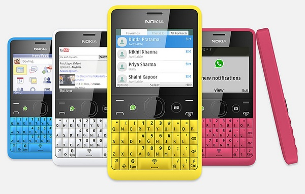 Nokia Asha 210 QWERTY Phone with WhatsApp Button colors
