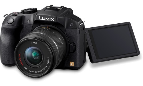 Panasonic LUMIX DMC-G6 Micro43 Mirrorless Camera free-angle lcd