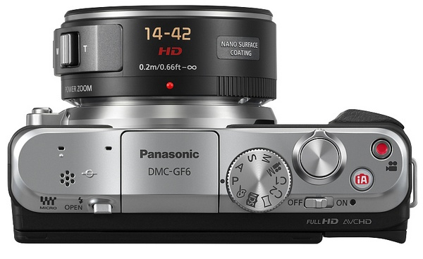 Panasonic LUMIX DMC-GF6 Micro Four Thirds Mirrorless Camera with WiFi and NFC top