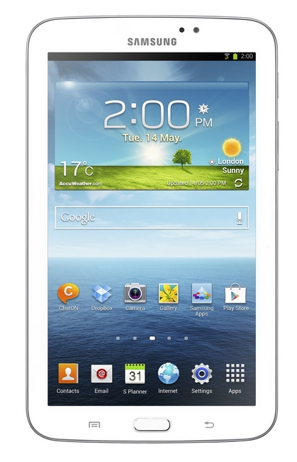 Samsung Galaxy Tab 3 7-inch mid-range Tablet front