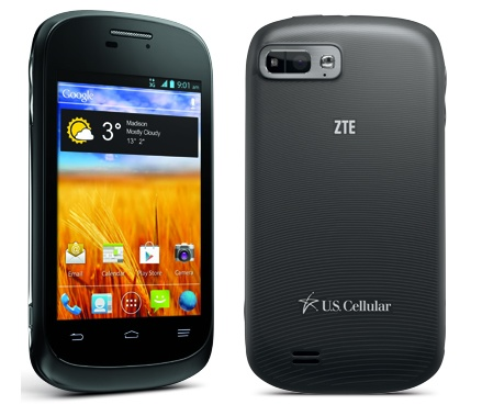 US Cellular ZTE Director Affordable Smartphone back
