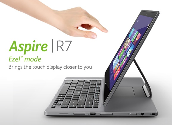 Acer Aspire R7 Notebook with Flexible Ezel Hinge 3