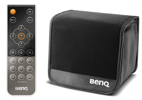 BenQ Joybee GP3 Mini Projector with iPhone Dock bag remote
