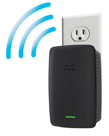 Linksys RE2000 Dual-band Wireless-N Range Extender wall