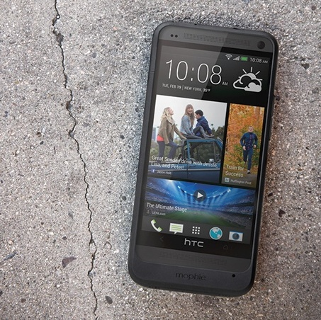 Mophie juice pack for HTC One front