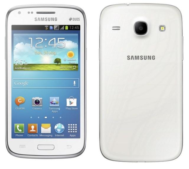 Samsung Galaxy Core Dual SIM Smartphone white back