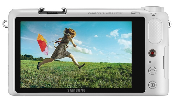 Samsung NX2000 SMART Mirrorless Camera wifi nfc back