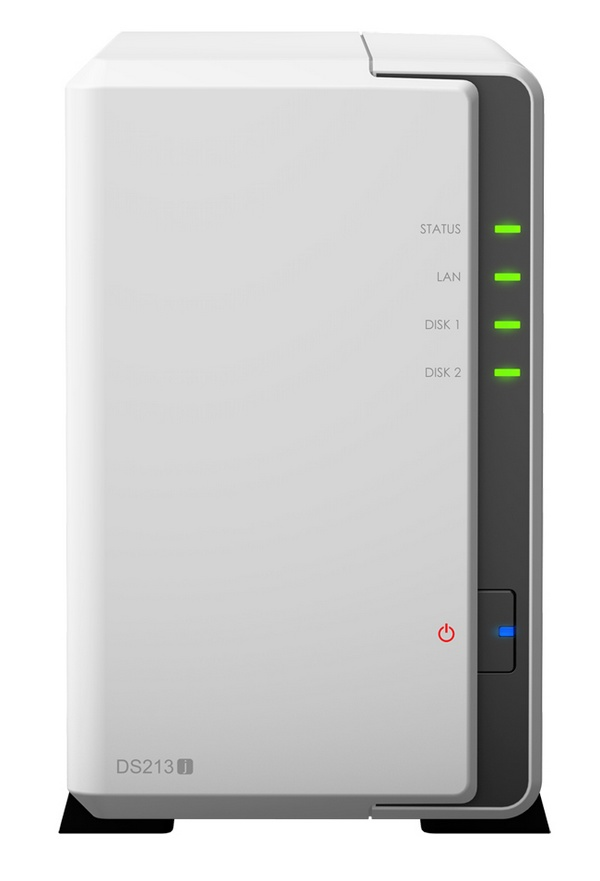 Synology DiskStation DS213j 2-bay NAS Server front
