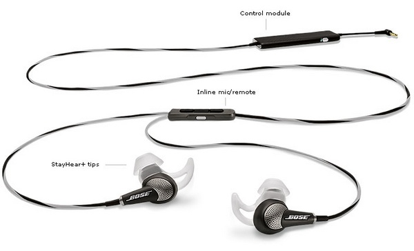 Bose QuietComfort 20 In-ear Noise-cancelling Headphones