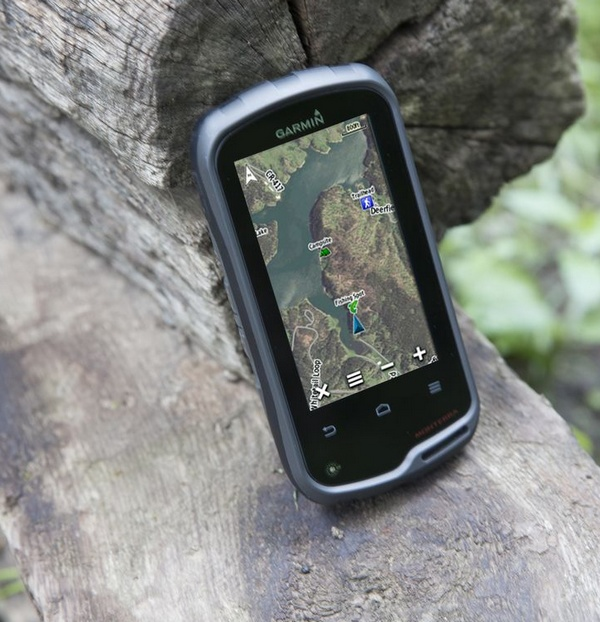 Garmin Monterra Outdoor Handheld GPS Device runs Android and gets WiFi in use