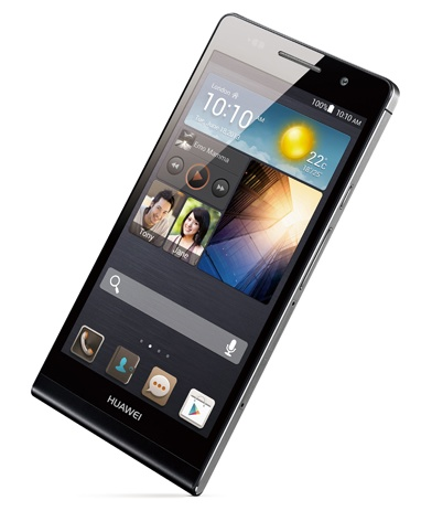 Huawei Ascend P6 ultra slim smartphone black