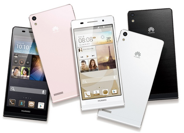 Huawei Ascend P6 ultra slim smartphone colors