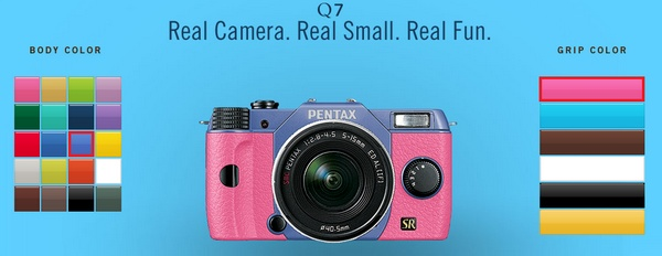Pentax Q7 Super Compact Mirrorless Camera comes in 120 Color
