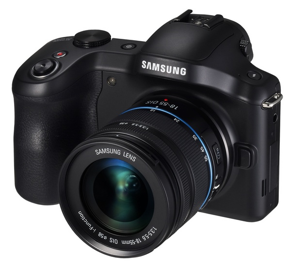 Samsung Galaxy NX Mirrorless Camera Android angle