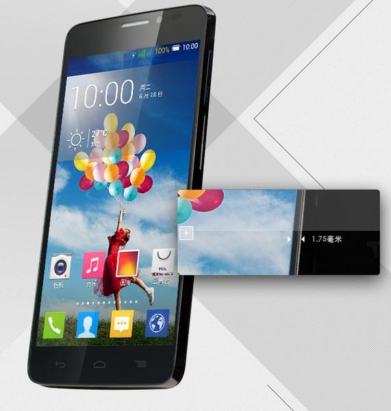 TCL Idol X S950 Smartphone slim bezel