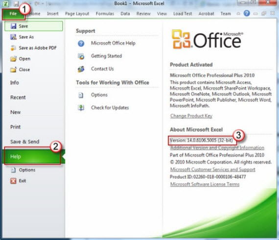 Office-2010-version-information Office 2010 Service Pack 2 (SP2) Direct Download Links