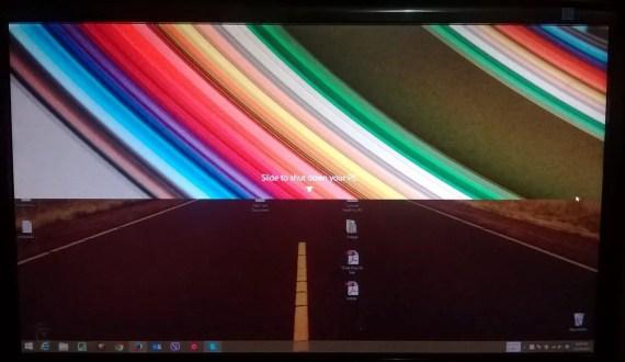 Slide to shutdown effect in Windows 8.1