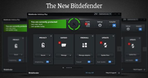 The new Bitdefender Internet Security 2014 GUI