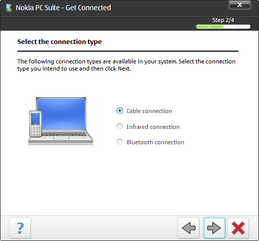 Nokis PC Suite getting connected