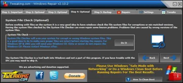 Windows Repair file system checker