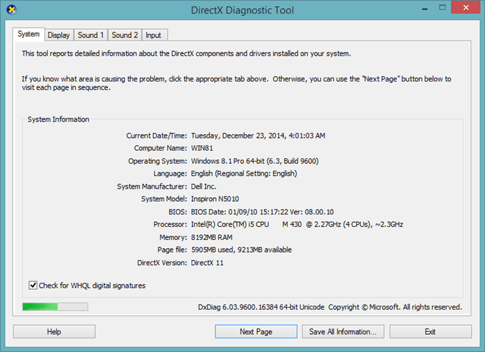 direct3d windows 8