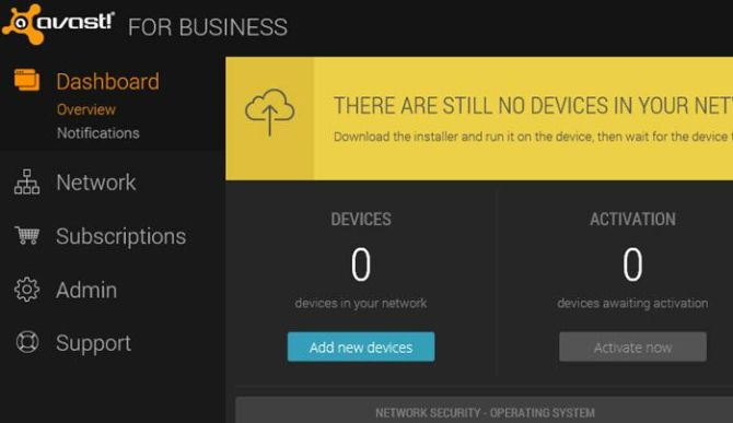 Avast for Business management console add new devices