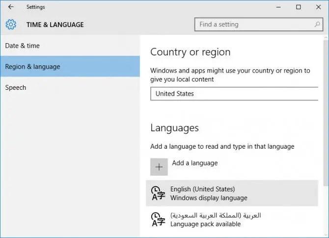 packs linguistiques lip windows 7