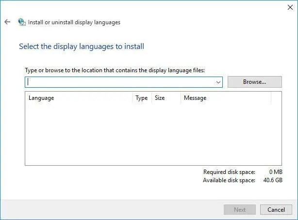 lpksetup language pack installation - Windows 10 Language Packs Direct Download Links