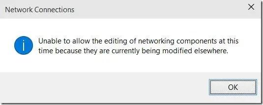 VPN Network Connections error