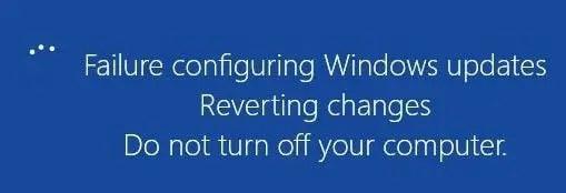 Failure configuring Windows Updates