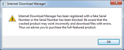 When i try to download any file with idm it just tries to connect.