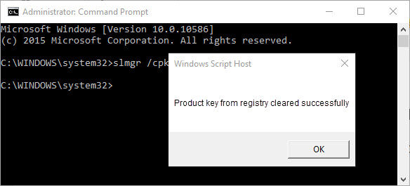 remove windows product key