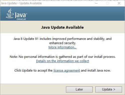 download java 8 update 91 offline installers rh itechtics com Reinstall Windows Update Windows 7 Windows 7 Upgrade