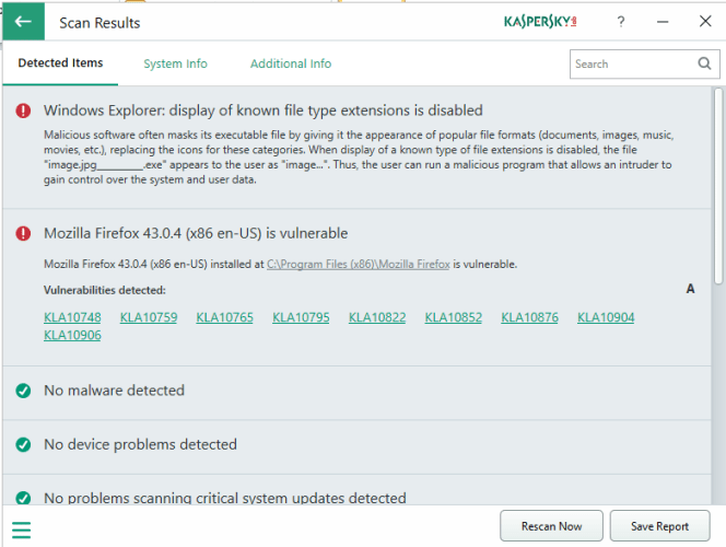 2 11 664x500 - Identify System Issues With Kaspersky System Checker